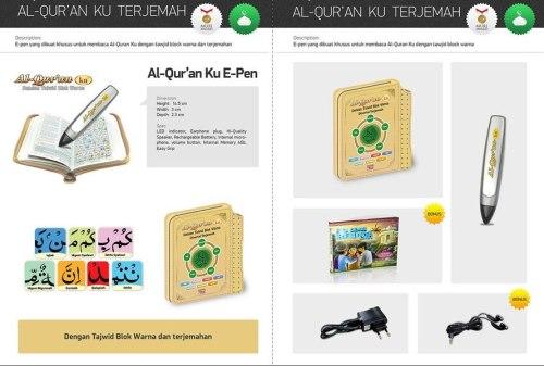Al QuranKu e-Pen Terjemah 1 paket